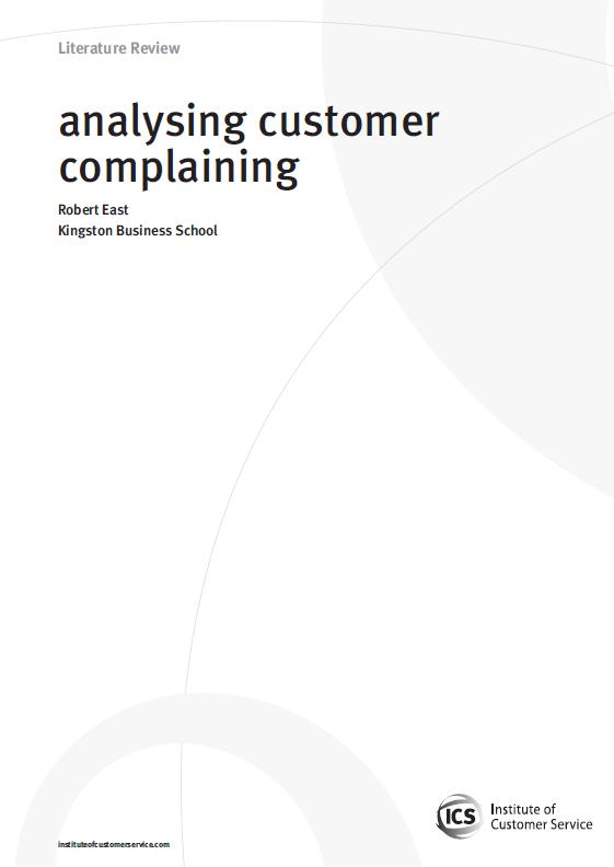 Analysing Customer Complaining (2009)