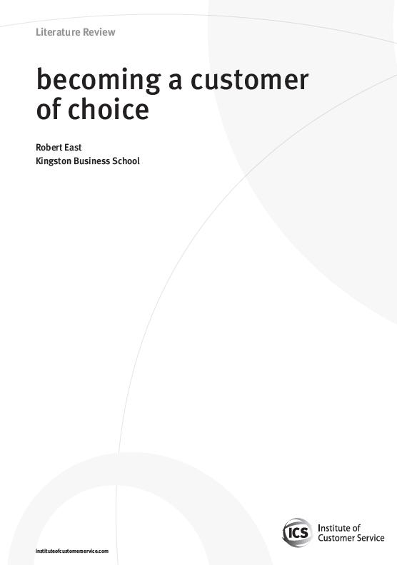 Becoming A Customer Of Choice (2010)