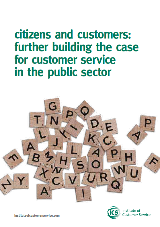 Citizens And Customers: Further Building The Case For Customer Service In The Public Sector