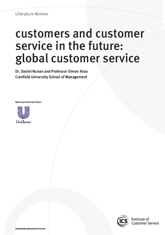 Customers And Customer Service In The Future: Global Customer Service (2010)