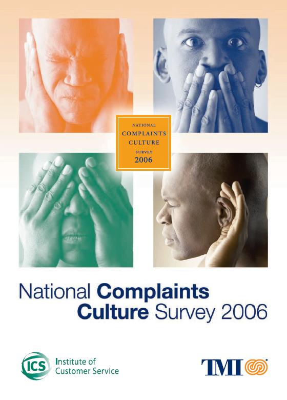 ICS/TMI National Complaints Culture Survey 2006