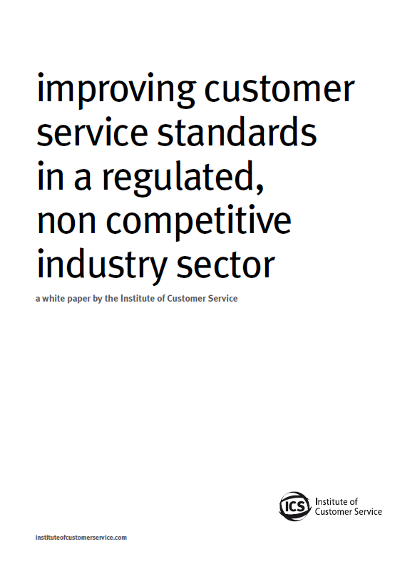 Improving Customer Service Standards In A Regulated, Non Competitive Industry Sector (2011)