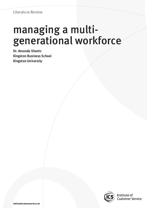 Managing A Multi-generational Workforce (2010)