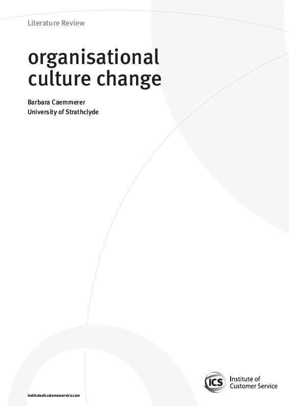 Organisational Culture Change (2009)