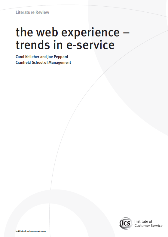 The Web Experience – Trends In E-service (2009)