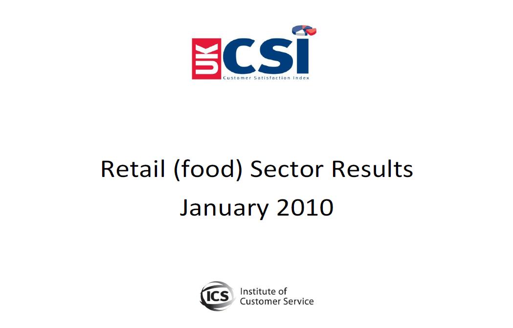 UKCSI Retail (Food) Sector Report – January 2010