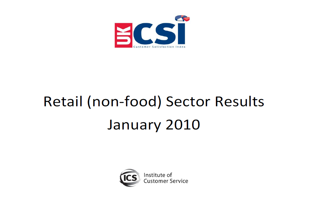 UKCSI Retail (Non-food) Sector Report – January 2010