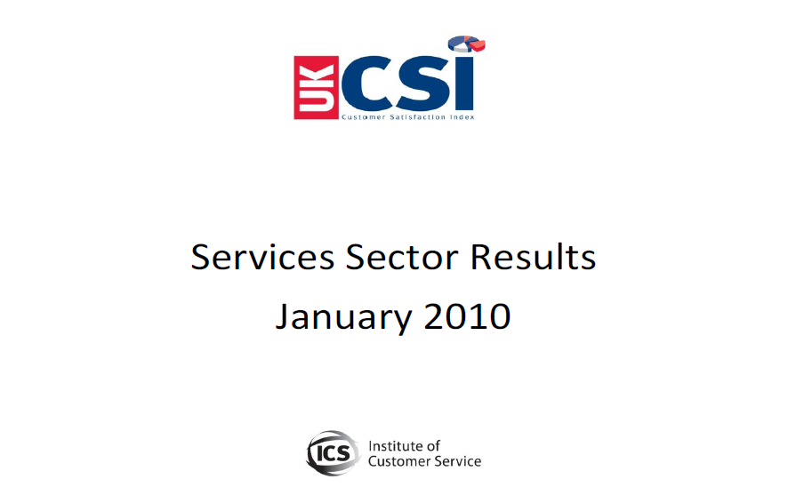 UKCSI Services Sector Report – January 2010