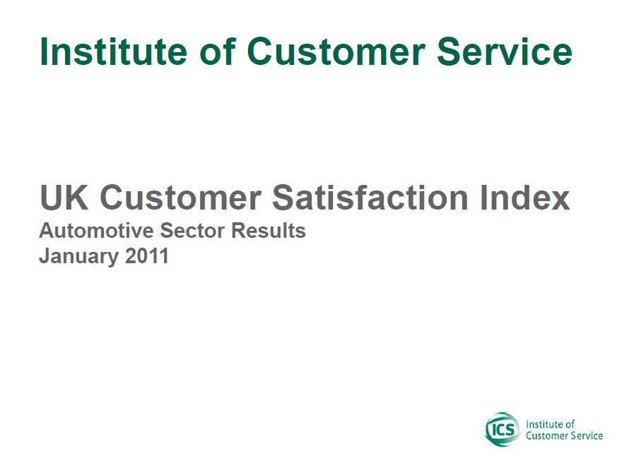 UKCSI Automotive Sector Report – January 2011