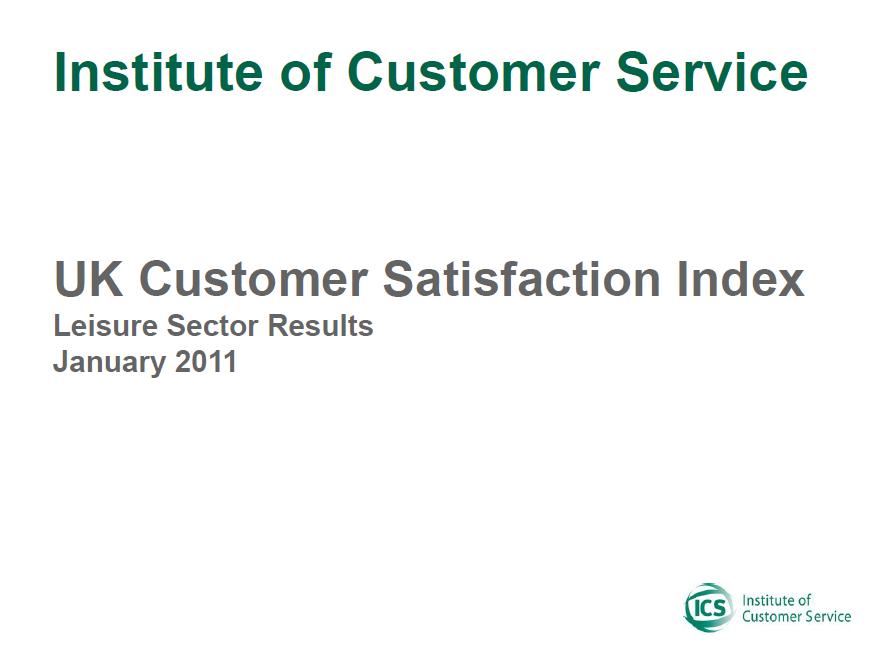 UKCSI Leisure Sector Report – January 2011