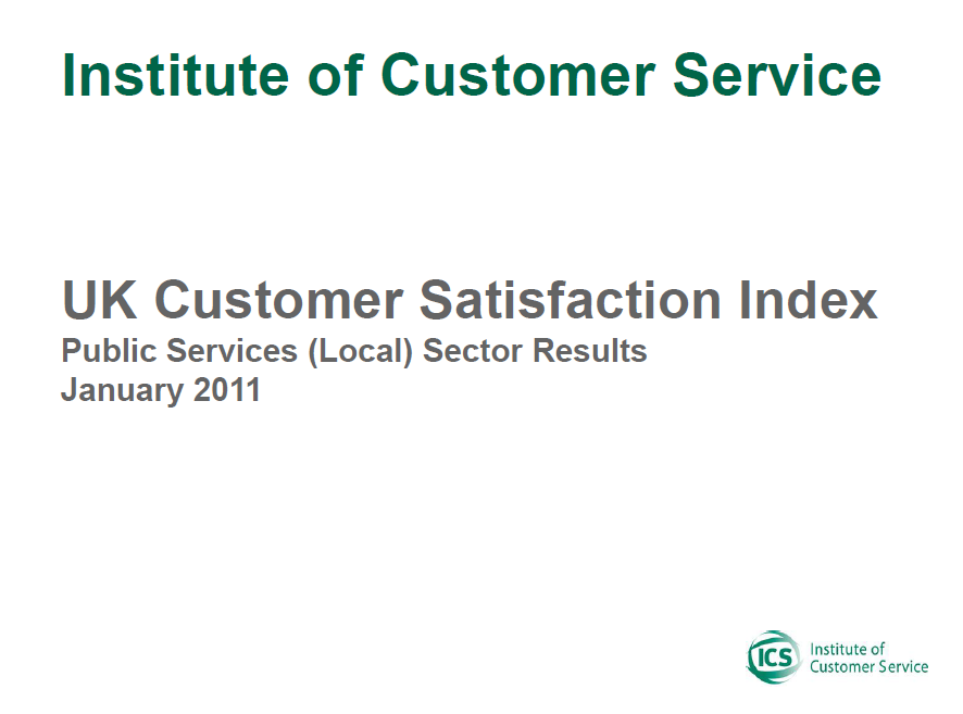 UKCSI Public Services (Local) Sector Report – January 2011