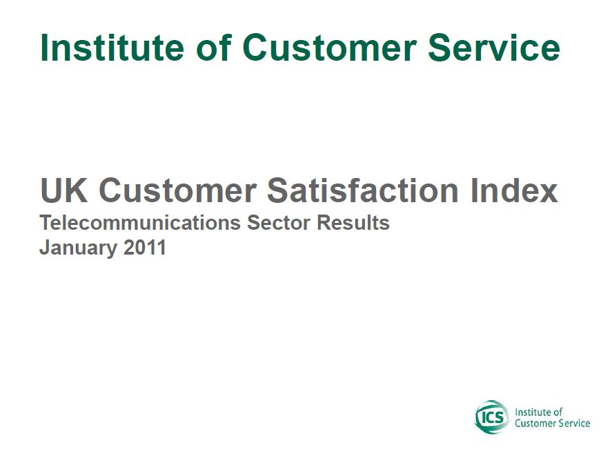 UKCSI Telecommunications & Media Sector Report – January 2011