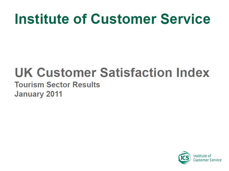 UKCSI Tourism Sector Report – January 2011