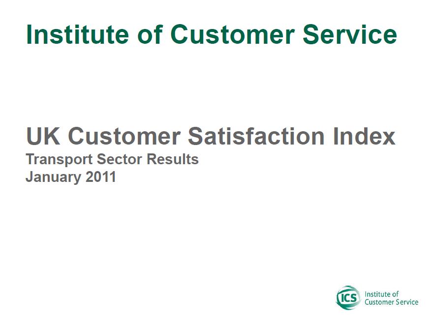 UKCSI Transport Sector Report – January 2011