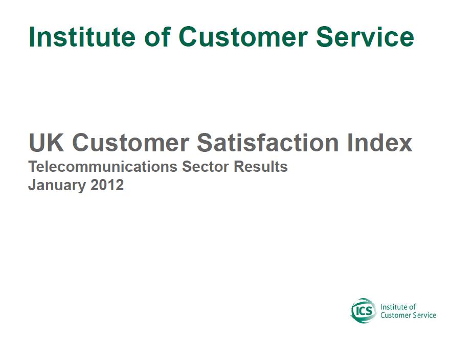 UKCSI Telecommunications & Media Sector Report – January 2012