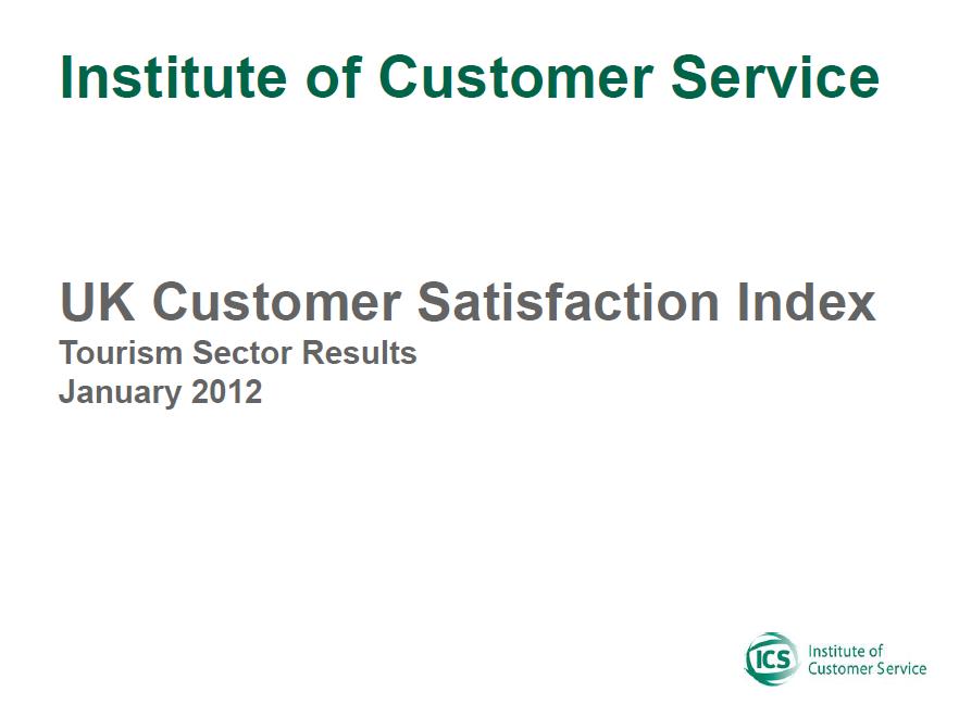 UKCSI Tourism Sector Report – January 2012