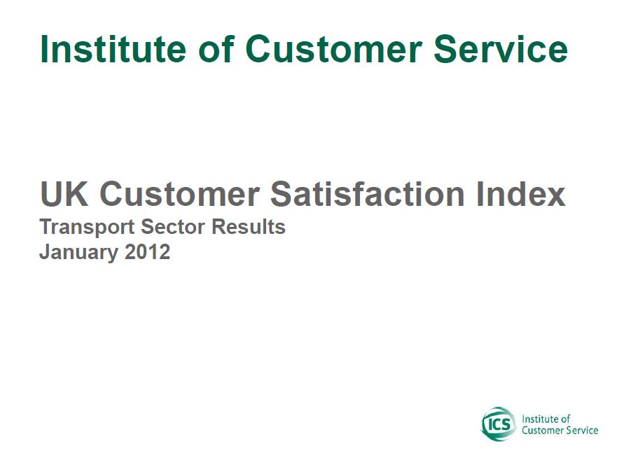 UKCSI Transport Sector Report – January 2012
