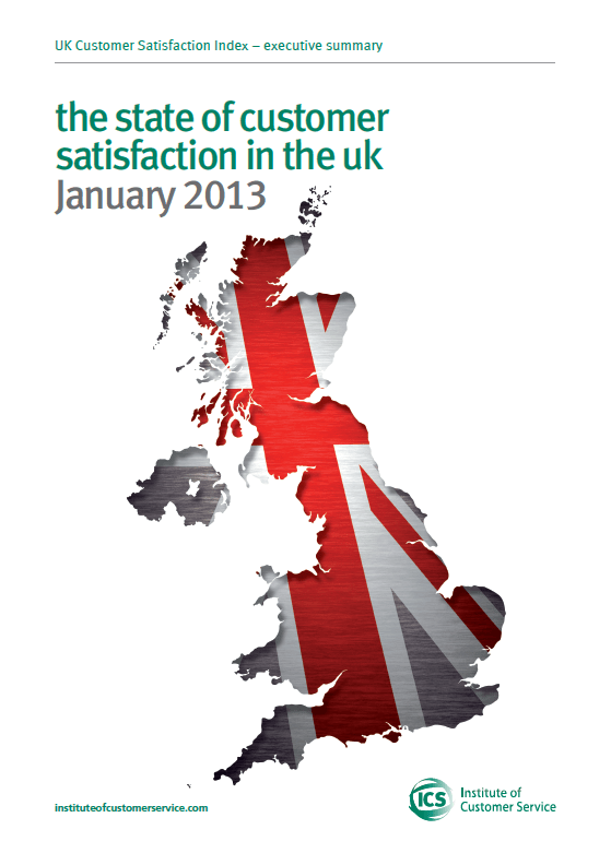 UKCSI: The State Of Customer Satisfaction In The UK – January 2013