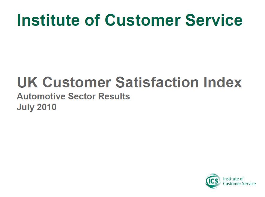 UKCSI Automotive Sector Report – July 2010