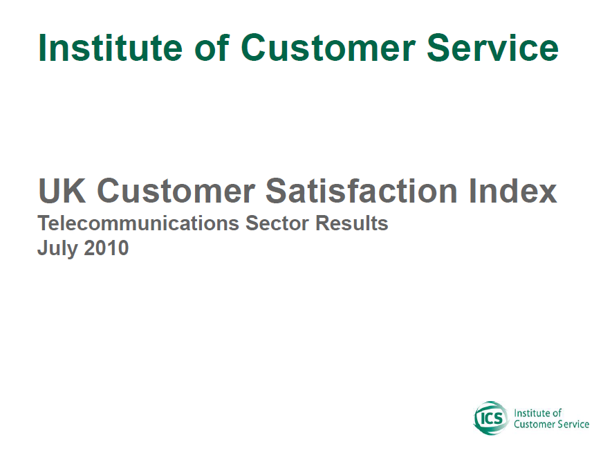 UKCSI Telecommunications & Media Sector Report – July 2010