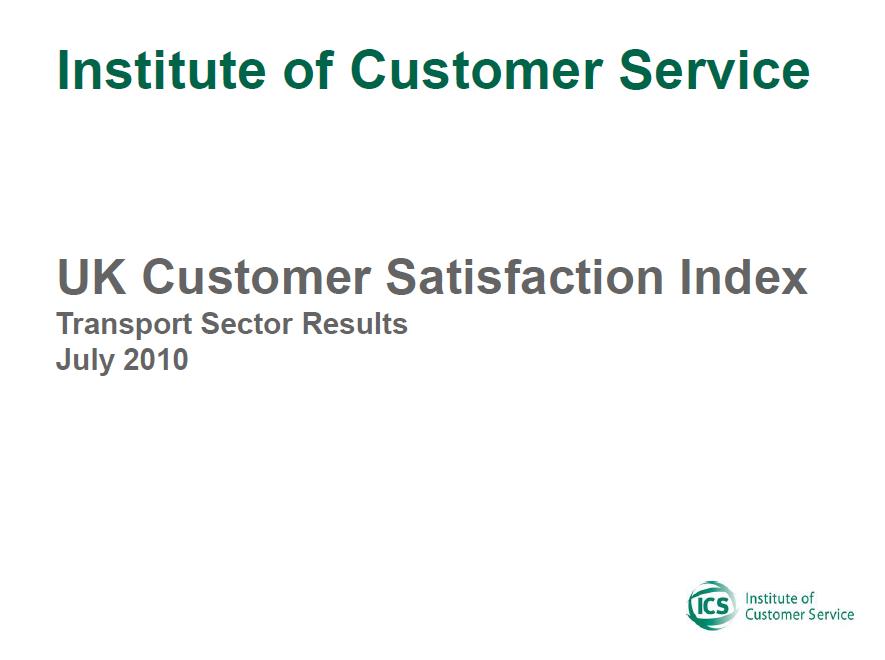 UKCSI Transport Sector Report – July 2010