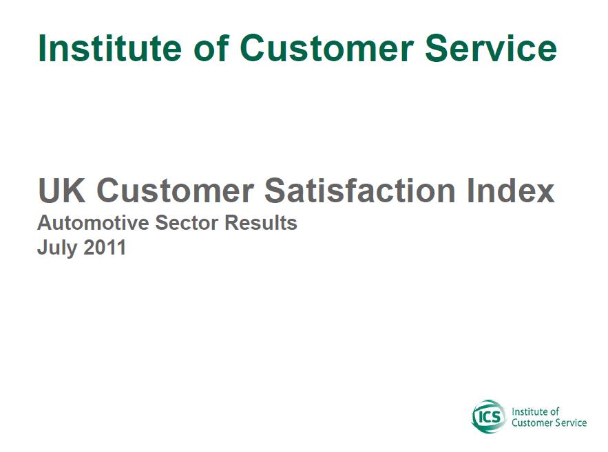 UKCSI Automotive Sector Report – July 2011