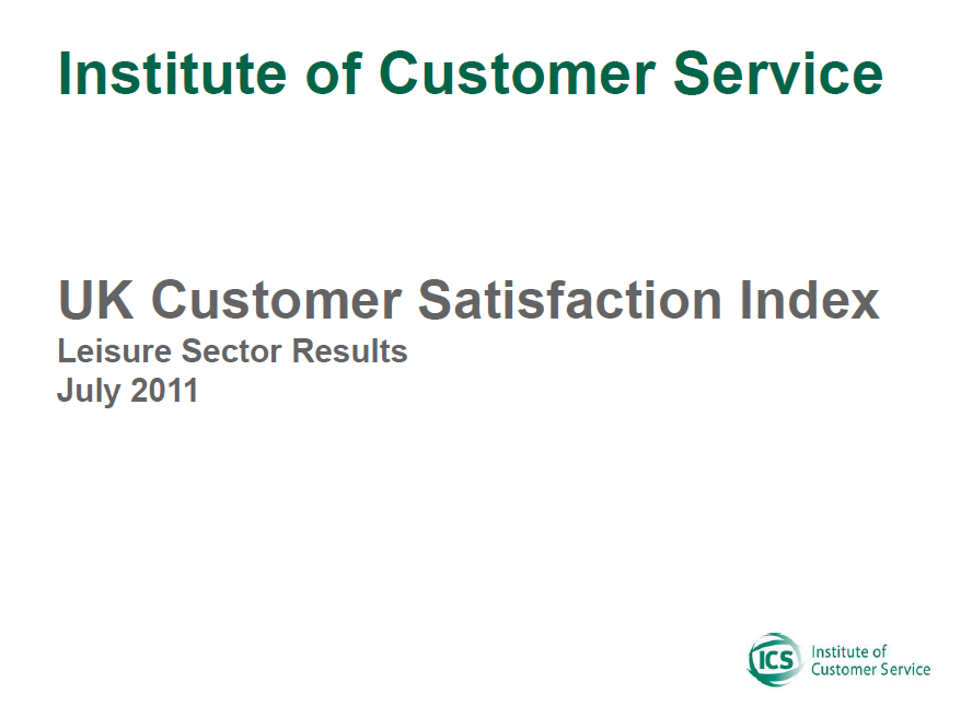 UKCSI Leisure Sector Report – July 2011