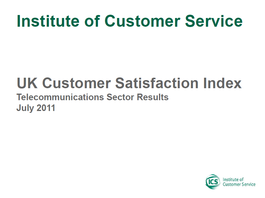 UKCSI Telecommunications & Media Sector Report – July 2011