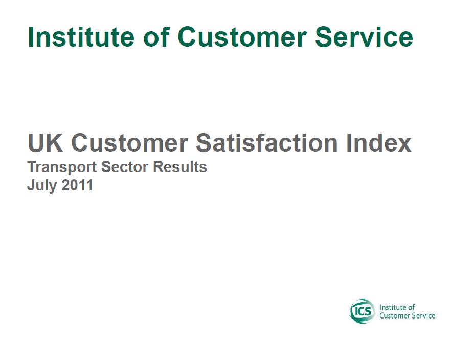 UKCSI Transport Sector Report – July 2011