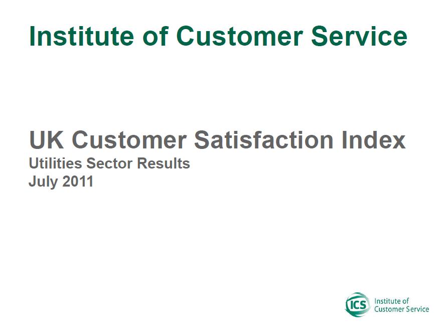 UKCSI Utilities Sector Report – July 2011