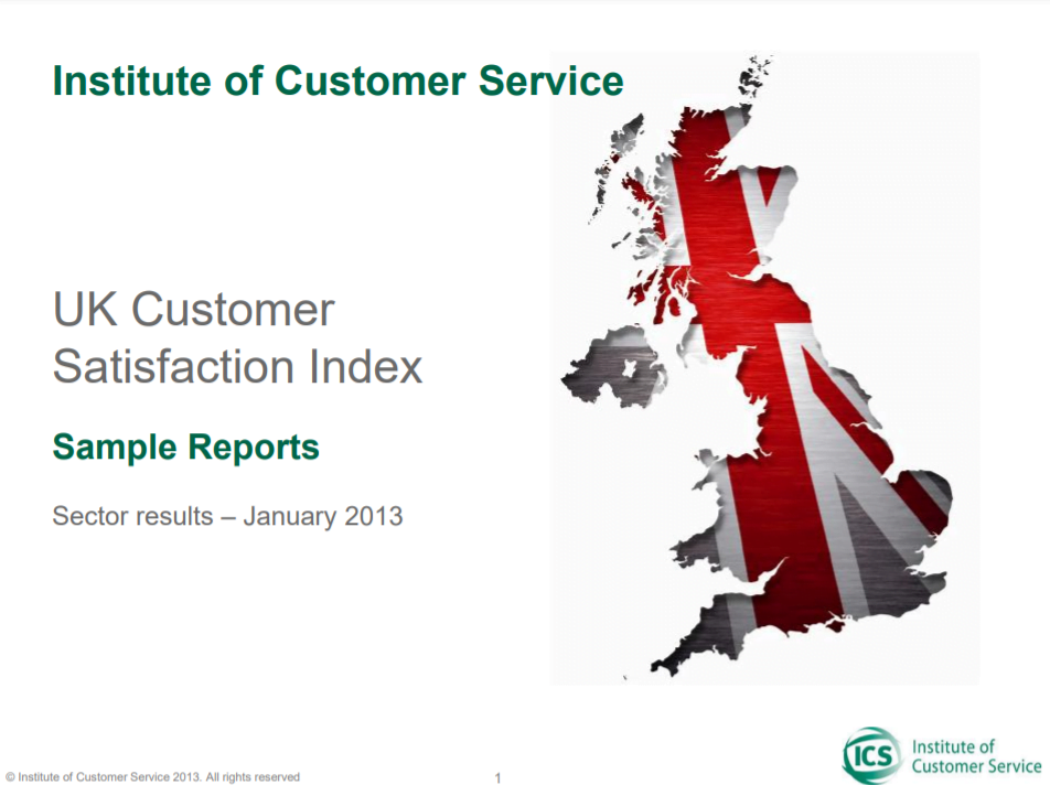 UKCSI Sample Sector Report – January 2013