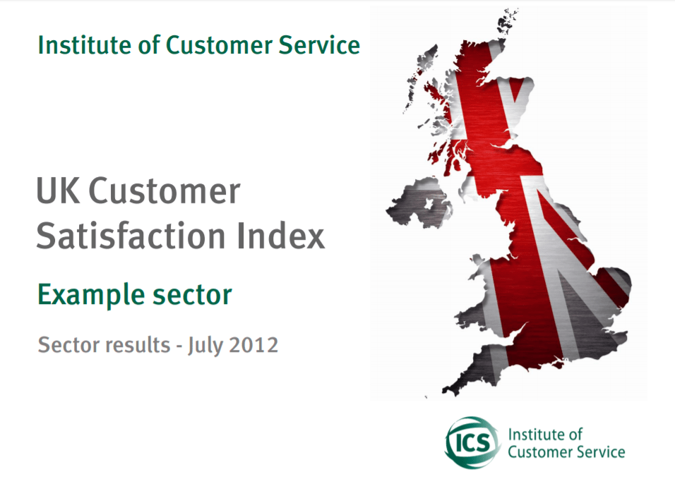 UKCSI Sample Sector Report – July 2012