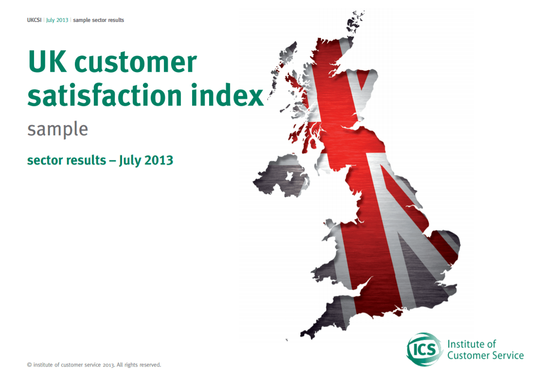 UKCSI Sample Sector Report – July 2013